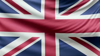 Realistic beautiful England flag looping Slow 4k resolution