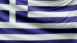 Realistic beautiful Greek flag looping Slow 4k resolution