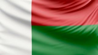 Realistic beautiful Madagascar flag 4k