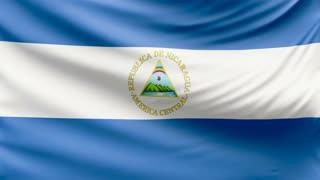 Realistic beautiful Nicaragua flag 4k