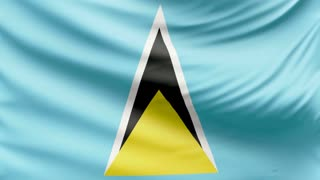 Realistic beautiful Saint Lucia flag 4k