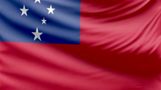 Realistic beautiful Samoa flag 4k