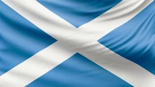 Realistic beautiful Scotland flag 4k