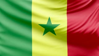Realistic beautiful Senegal flag 4k