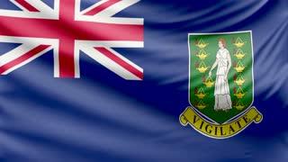 Realistic beautiful Virgin Islands British flag 4k