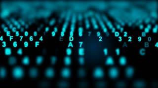 hexadecimal data loopable background