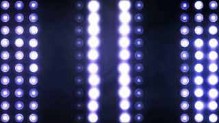 Stage lights. Close-up. Floodlight Lights Flashing Wall .