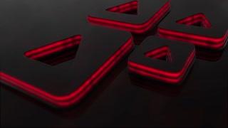 Black 3 D Logo