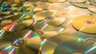 Sliding forward over CD DVD data discs until you drown