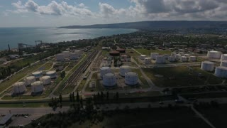 aerial view of the oil base