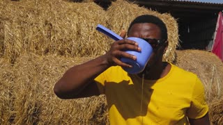 African American man at work on the farm