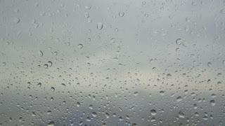 drops of rain on the window. background