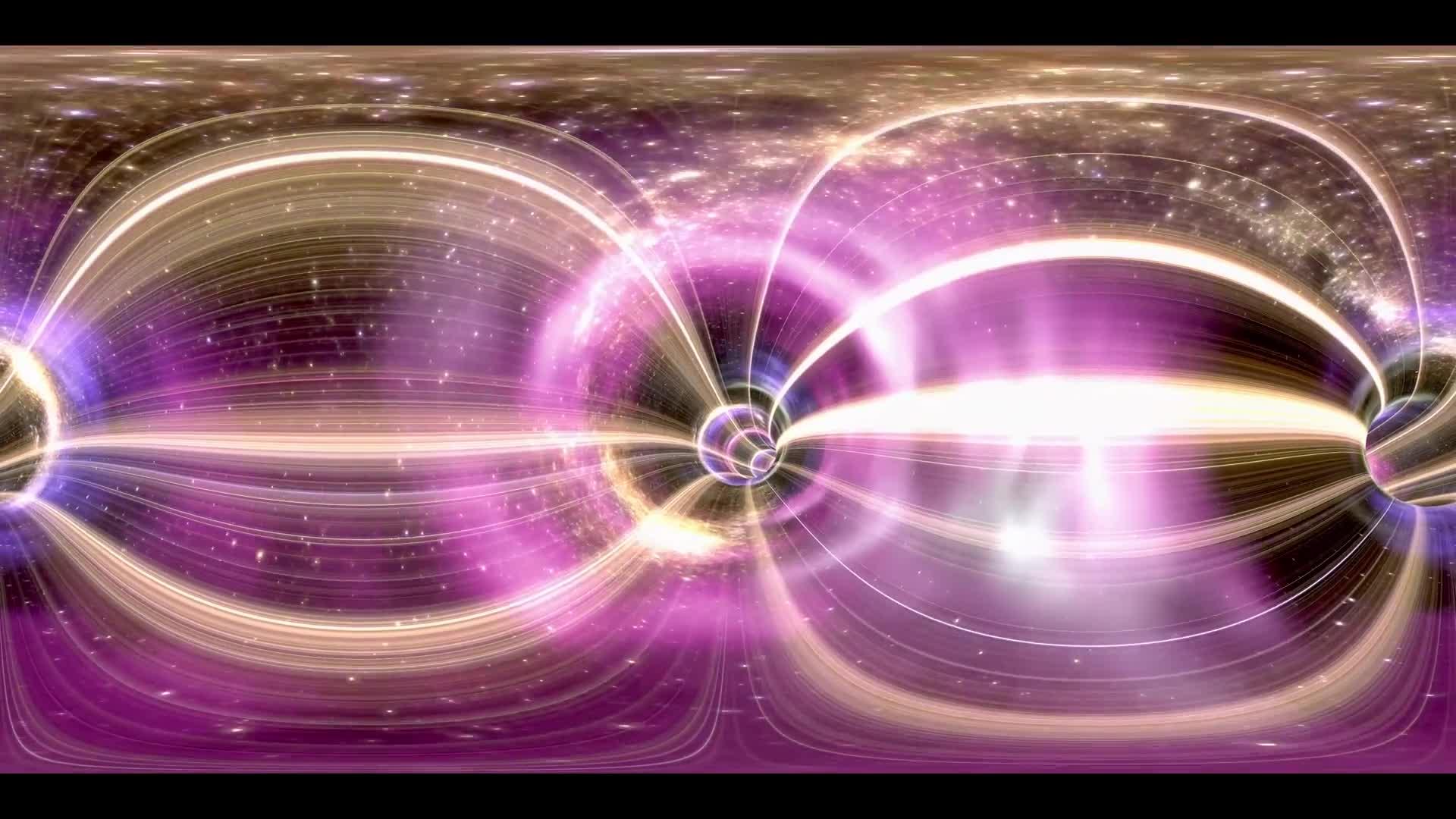 360VR Video wormhole cosmic tunnel in space, loop
