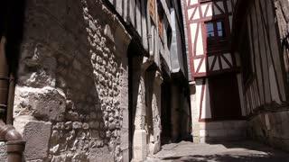 Alley in Rouen, Normandy France, TILT