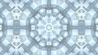 Animated abstract modern mandala flower particles loop able. 3D rendering 4K