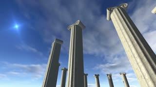 Animated ancient greek pillars Loop-able 4K