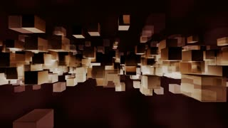 Animated block particles light and dark loop able. 3D rendering 4K