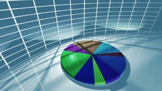 Animated business pie chart for economic concept 4K