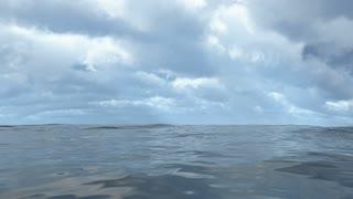Animated flowing transparent ocean water loop able. 3D rendering 4K