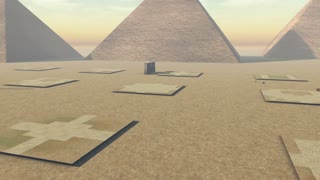 Animated growing ancient archeology of Egypt. 4K