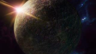 Animated mercury zodiac horoscope symbol and planet. 3D rendering 4K