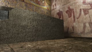 Animated pharaoh tomb in ancient Egypt 4K