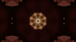 Animated stylish abstract mandala flower particles loop able. 3D rendering 4K