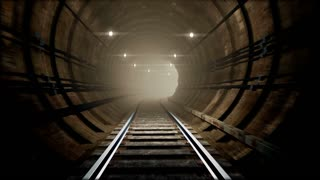 Animated subway tunnel, loop-able