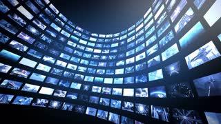 Animated video wall half-round 4K
