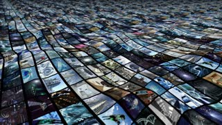 Animated video wall, ocean wave. Loop-able  4K