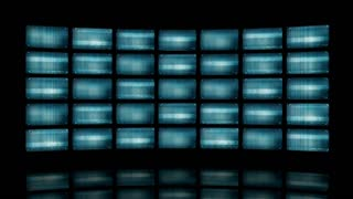 Animated video wall with distorted screens 4K