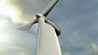Animated wind turbine. Loop-able