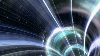 Animated wormhole a tunnel through space. Loop-able 4k