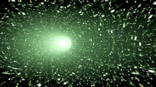 Animated wormhole, green. Loop-able 4K