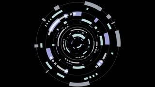 Animation of a futuristic black hud