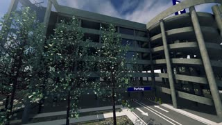 Animation of a modern parking lot