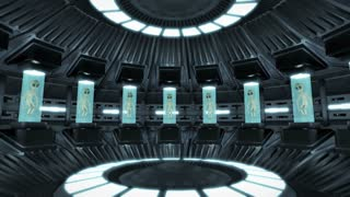 Animation of aliens inside a UFO. Loop-able 4K