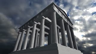 Animation of an ancient greek temple