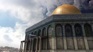 Animation of Dome of the Rock clouds timelapse in Jerusalem