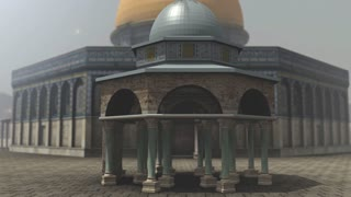 Animation of Dome of the Rock exterior in Jerusalem
