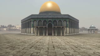 Animation of Dome of the Rock in Jerusalem