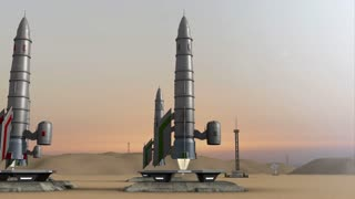 Animation of multiple rocket launches