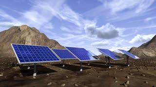Animation of solar panels