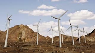 Animation of wind turbines