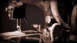 Antique sewing machine sepia