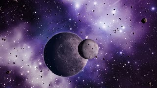 Asteroids planets and space warp