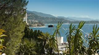 Bay and coastline of Monaco, Cote D'Azur France