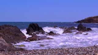 Beach at the Mediterranean coast, france