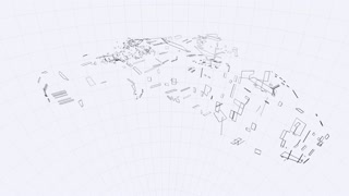 Blueprint of a futuristic spaceship