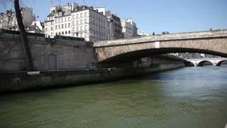 Bridge at river Seine in Paris, France
